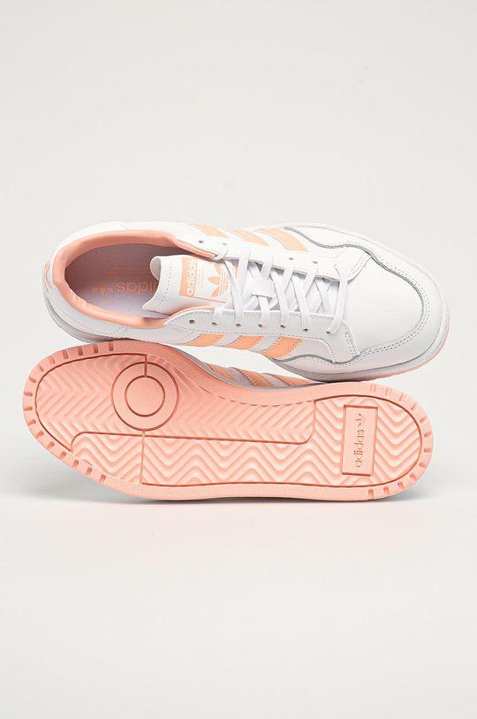 biela adidas Originals - Kožená obuv Team Court