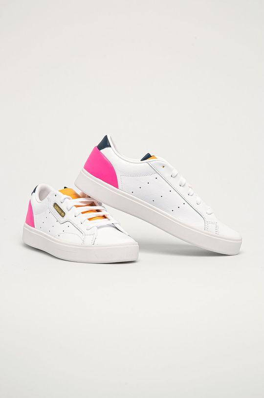adidas Originals - Kožená obuv Sleek biela