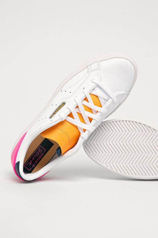 biela adidas Originals - Kožená obuv Sleek