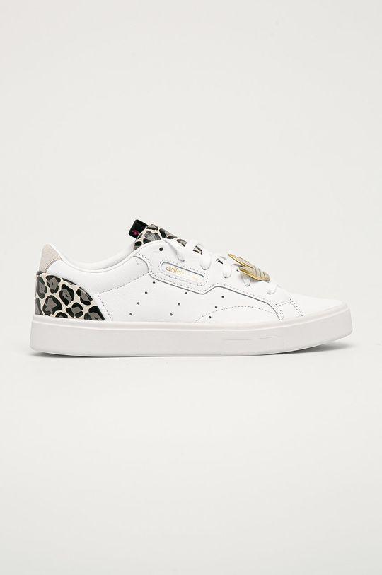 bílá adidas Originals - Kožené boty Sleek Dámský