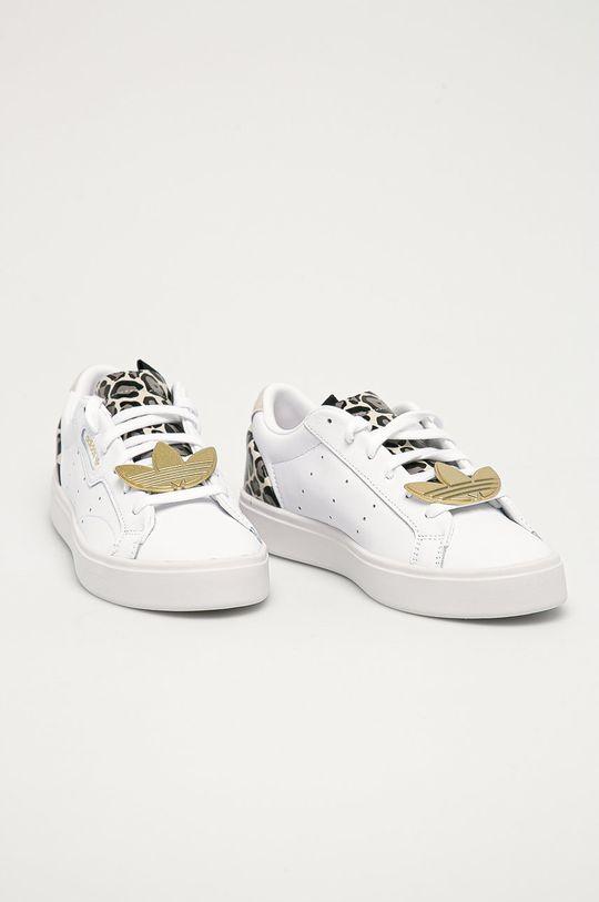 adidas Originals - Kožené boty Sleek bílá