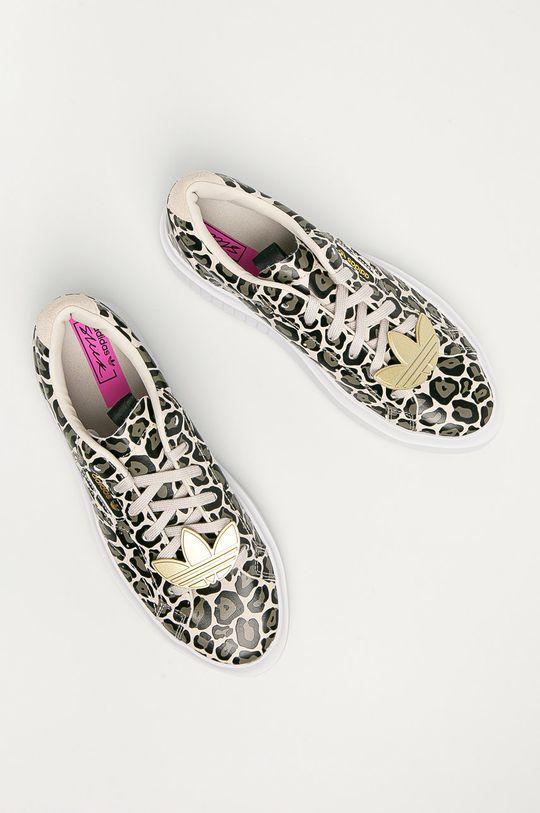 vícebarevná adidas Originals - Kožené boty Sleek Super