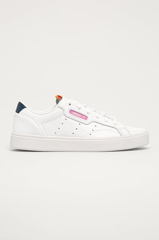 bílá adidas Originals - Kožené boty Sleek W Dámský