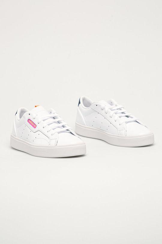 adidas Originals - Kožené boty Sleek W bílá
