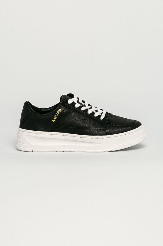 čierna Levi's - Kožená obuv Dámsky