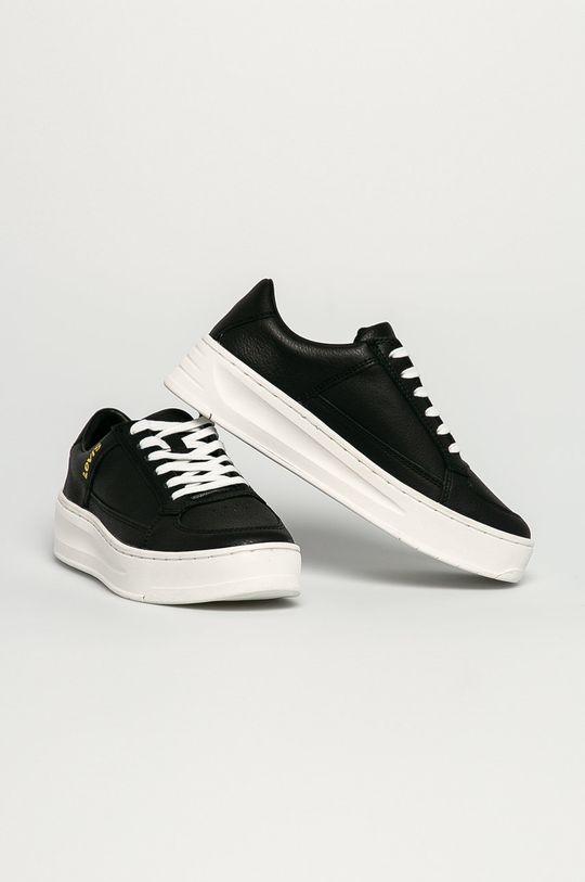 Levi's - Kožená obuv čierna