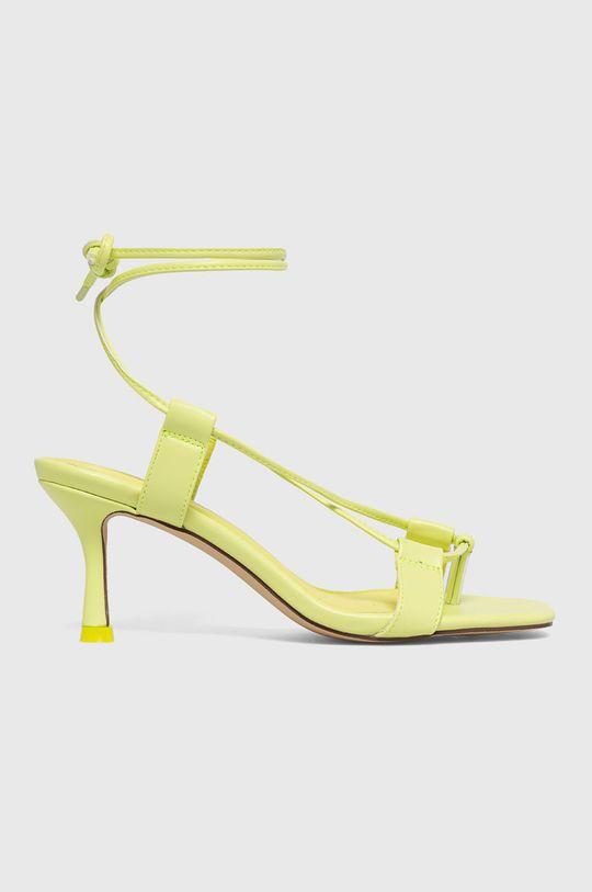 žlutě zelená Truffle Collection - Sandály Dámský