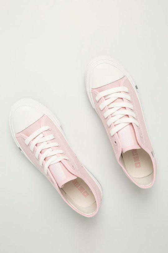 pastelowy różowy Big Star - Tenisówki