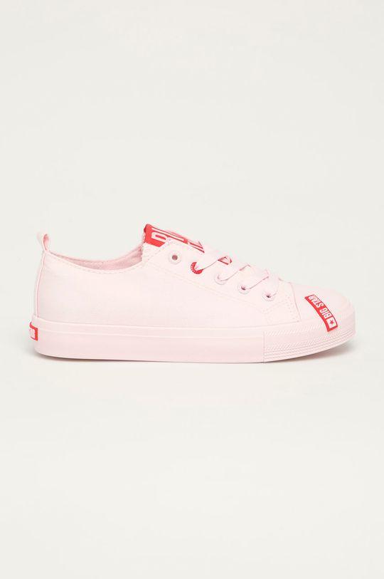 pastelowy różowy Big Star - Tenisówki Damski