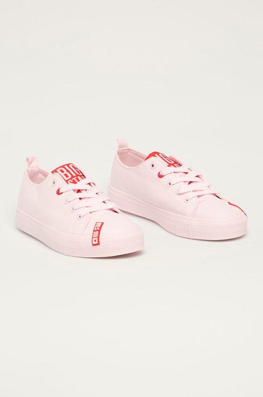 Big Star - Tenisówki pastelowy różowy