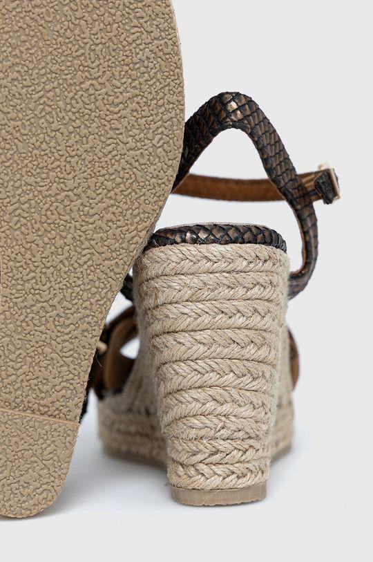 Big Star - Sandały skórzane Cholewka: Skóra naturalna, Skóra zamszowa, Wnętrze: Materiał syntetyczny, Materiał tekstylny, Skóra naturalna, Podeszwa: Materiał syntetyczny