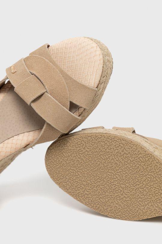 beżowy Big Star - Sandały skórzane