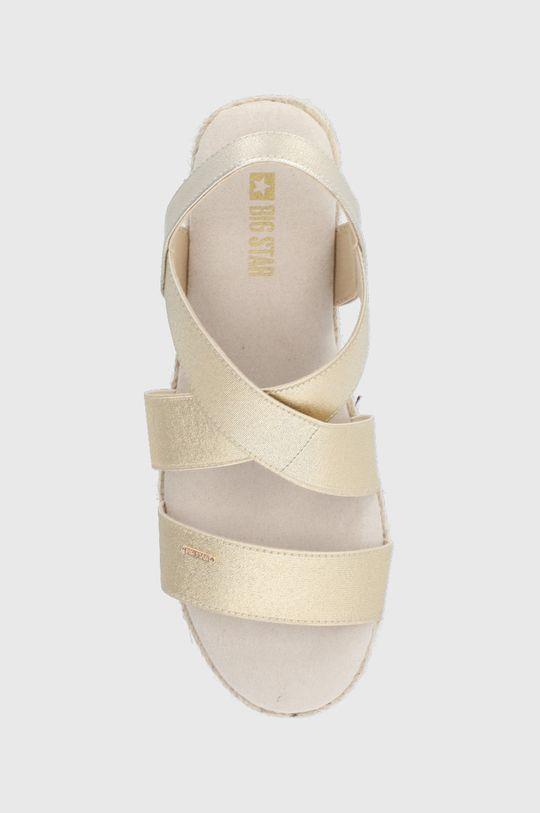 zlatá Big Star - Sandále