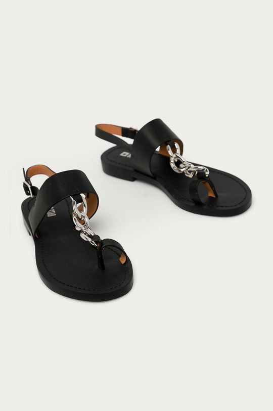 Big Star - Kožené sandály černá