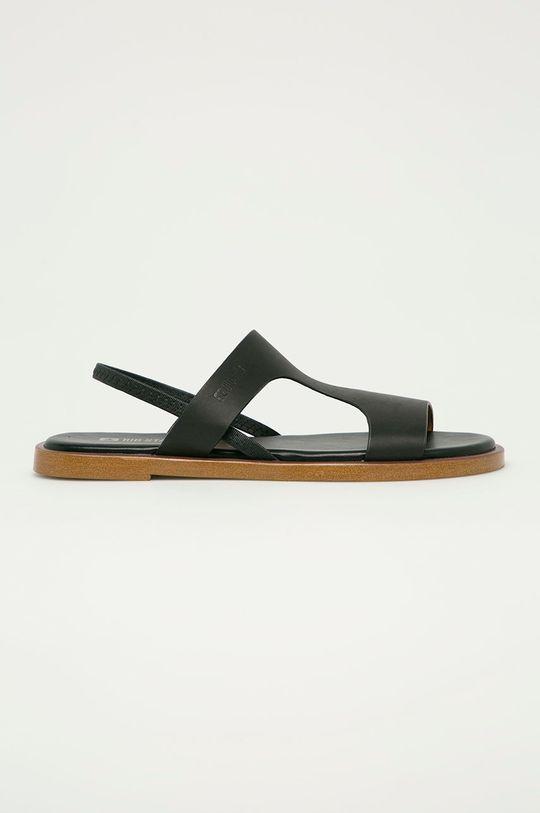 černá Big Star - Kožené sandály Dámský
