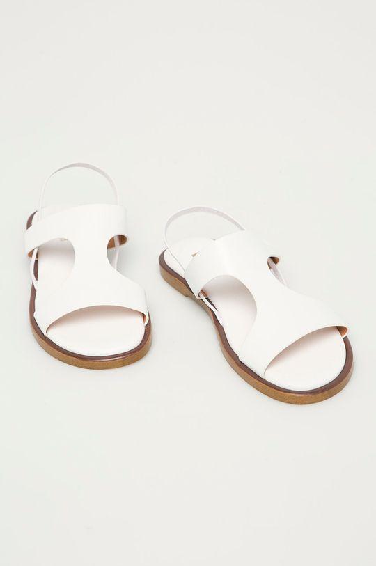 Big Star - Sandały skórzane biały