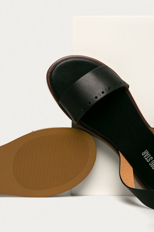 černá Big Star - Kožené sandály