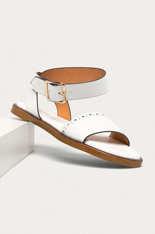 Big Star - Kožené sandály bílá