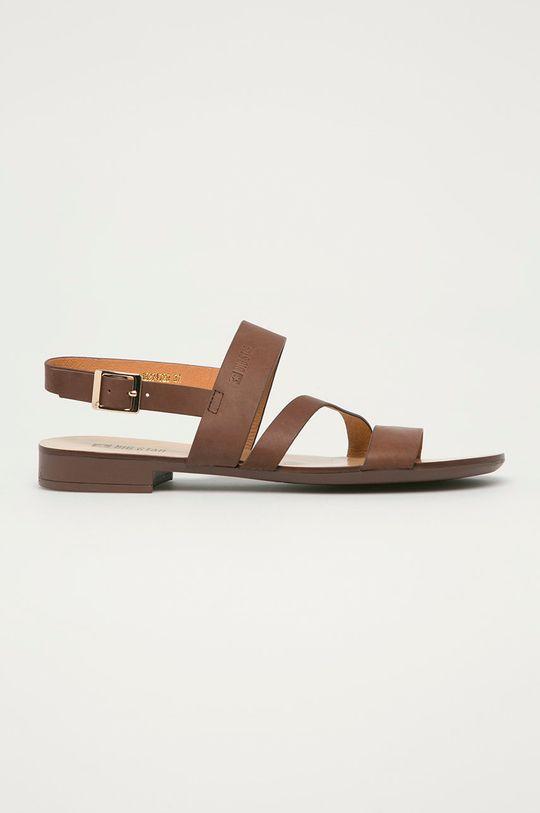 hnědá Big Star - Kožené sandály Dámský