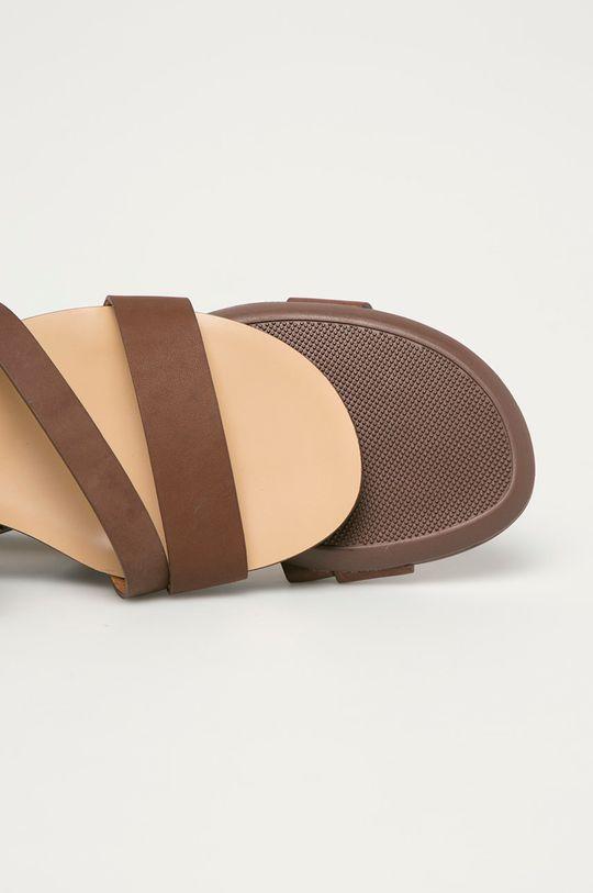 hnědá Big Star - Kožené sandály
