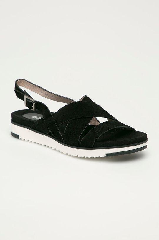 Big Star - Semišové sandály černá