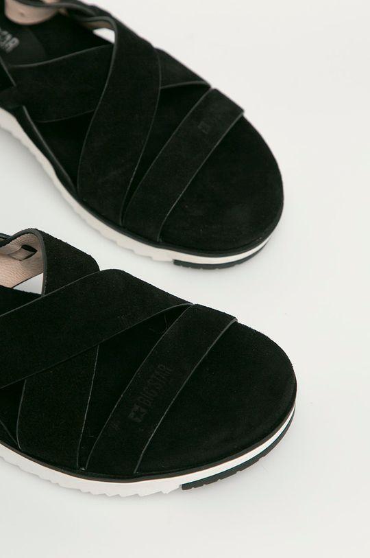 černá Big Star - Semišové sandály