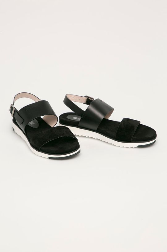 Big Star - Sandały skórzane czarny