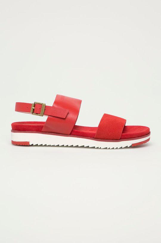 červená Big Star - Kožené sandály Dámský
