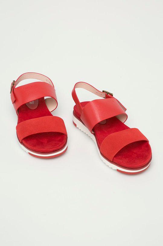 Big Star - Kožené sandály červená