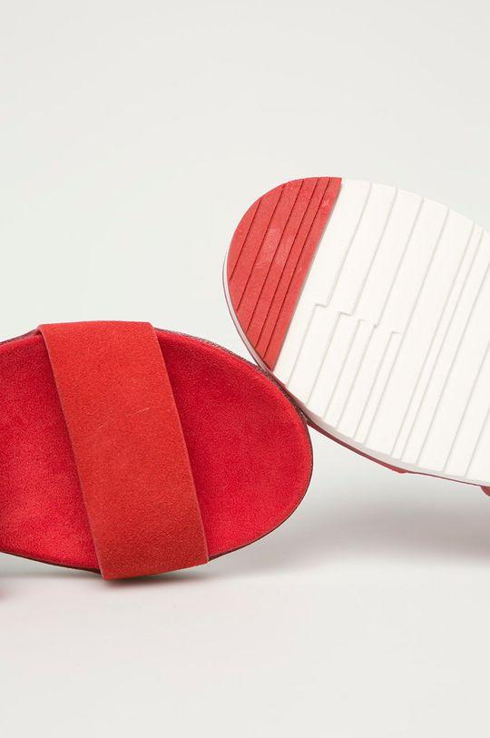 červená Big Star - Kožené sandály