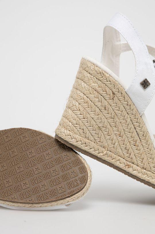 Big Star - Sandały Cholewka: Materiał tekstylny, Wnętrze: Materiał tekstylny, Skóra naturalna, Podeszwa: Materiał syntetyczny