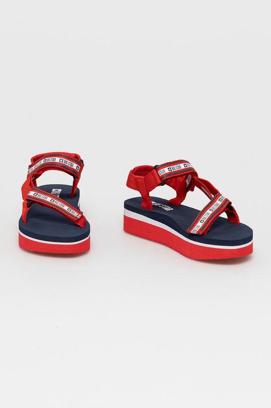 Big Star - Sandały czerwony