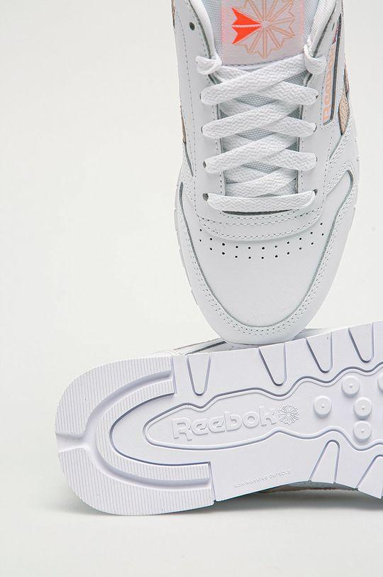 biały Reebok Classic - Buty skórzane Cl Lthr