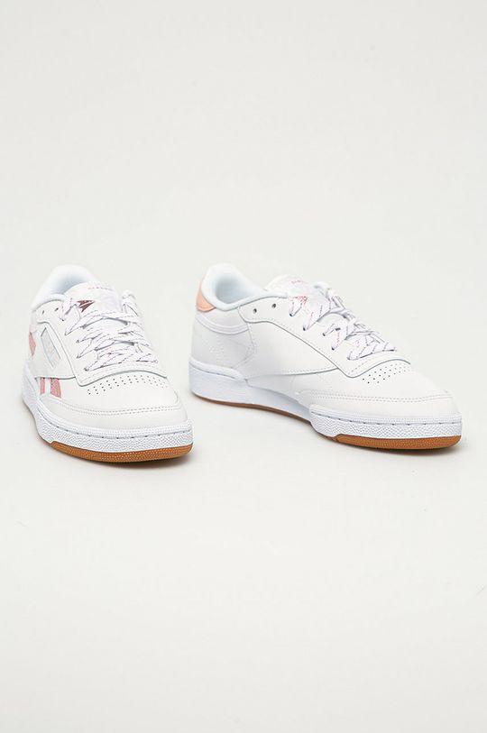 Reebok Classic - Kožené boty Club C bílá