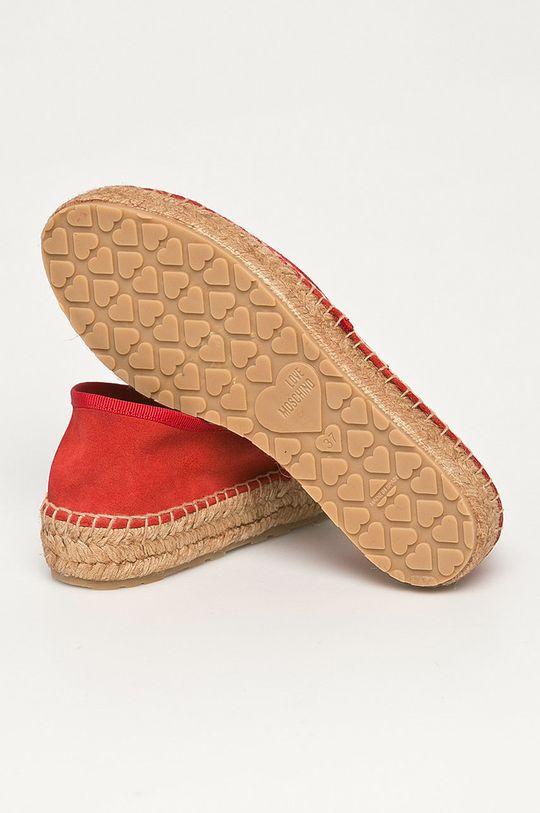 Love Moschino - Semišové espadrilky  Svršek: Semišová kůže Vnitřek: Textilní materiál, Semišová kůže Podrážka: Umělá hmota