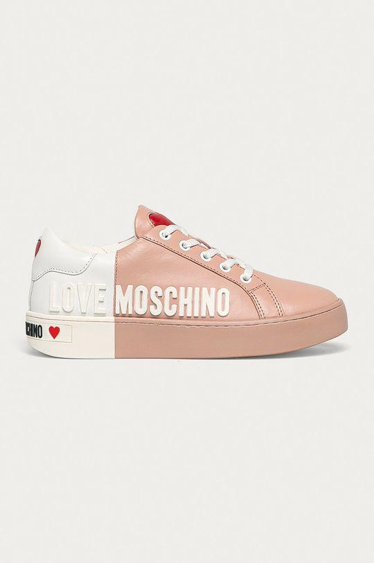 ružová Love Moschino - Kožená obuv Dámsky