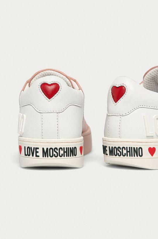 Love Moschino - Kožená obuv  Zvršok: Textil, Prírodná koža Vnútro: Textil Podrážka: Syntetická látka