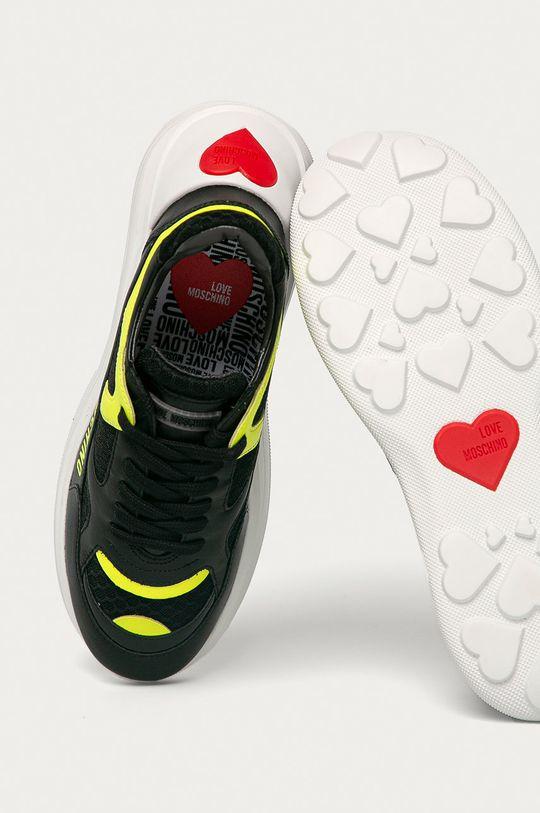 čierna Love Moschino - Topánky