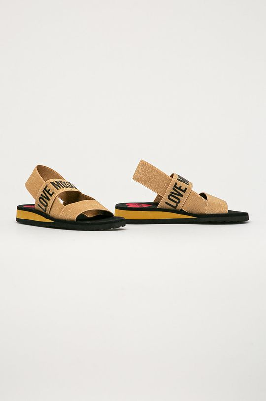 Love Moschino - Sandály zlatá