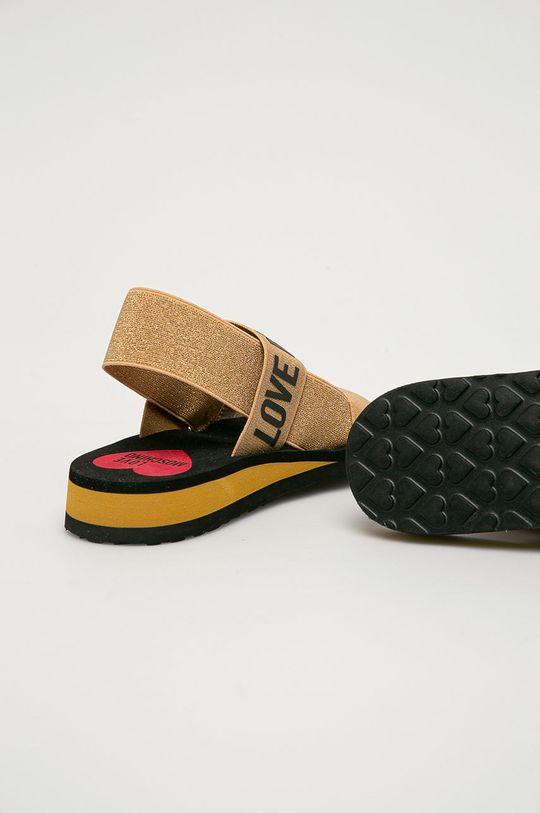 Love Moschino - Sandály  Svršek: Textilní materiál Vnitřek: Umělá hmota, Textilní materiál Podrážka: Umělá hmota