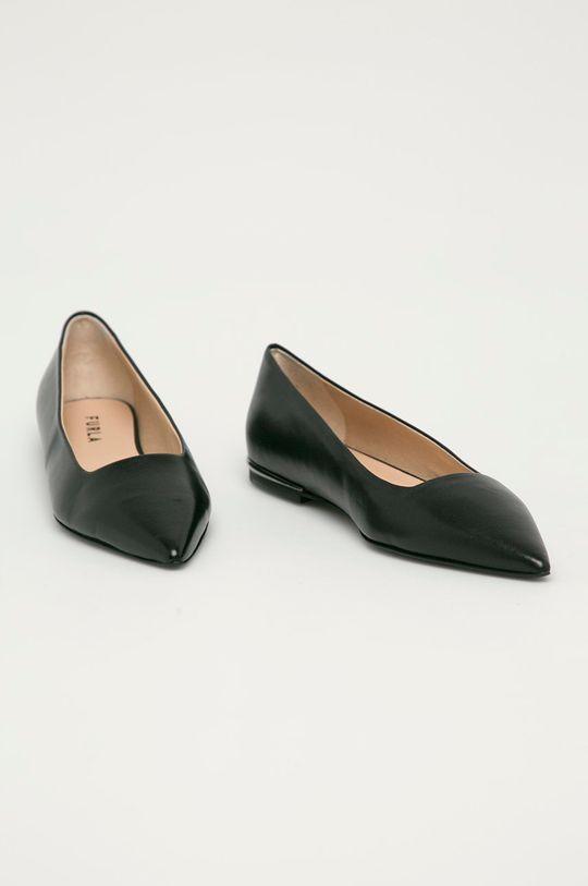 Furla - Kožené balerínky Code čierna