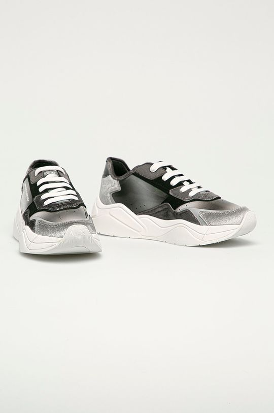 Armani Exchange - Topánky sivá