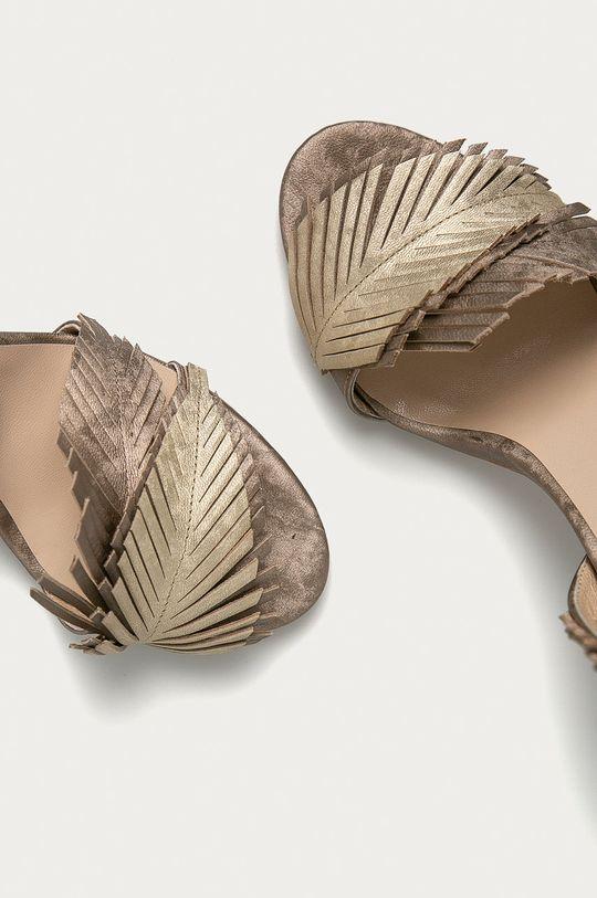 zlatá Baldowski - Kožené sandály