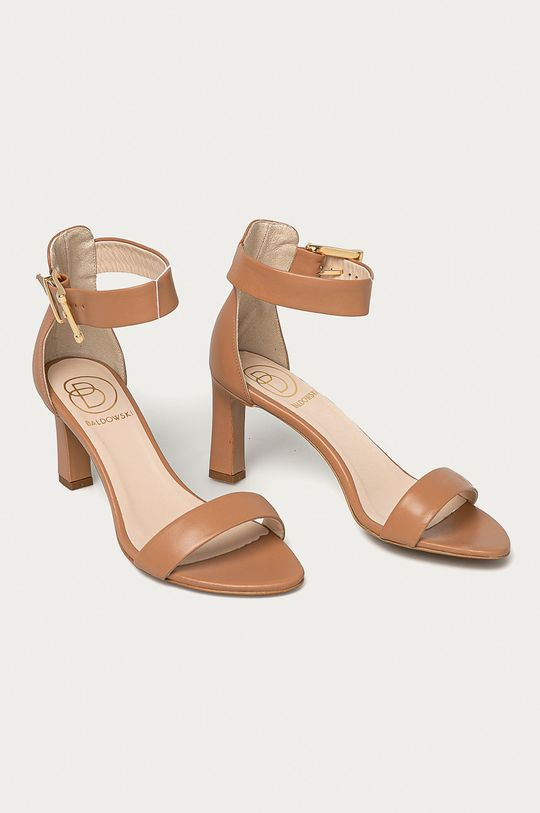 Baldowski - Kožené sandály tělová