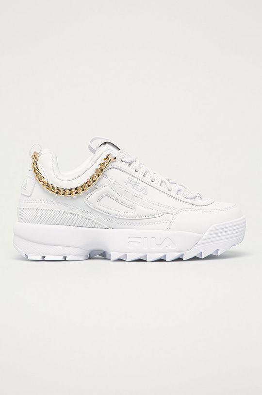 biały Fila - Buty Disruptor Chain Damski