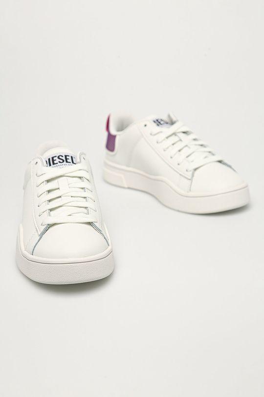 Diesel - Buty skórzane biały