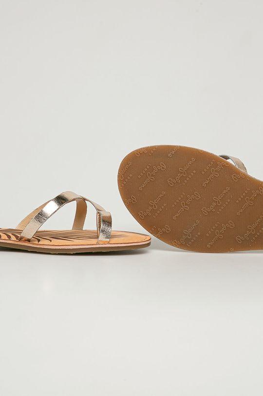 zlatá Pepe Jeans - Kožené sandály March