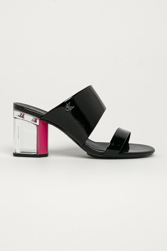 czarny Calvin Klein Jeans - Klapki Damski