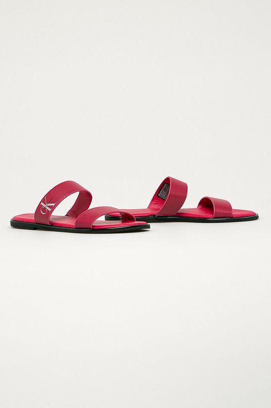 Calvin Klein Jeans - Slapi de piele roz