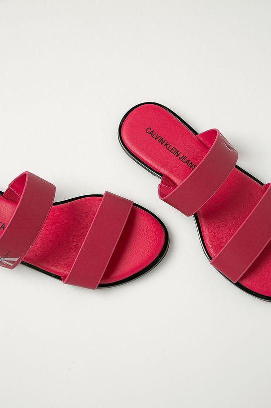 roz Calvin Klein Jeans - Slapi de piele